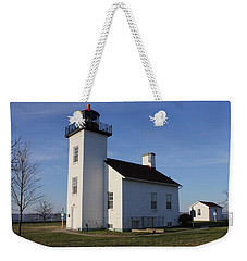 Sand Point Lighthouse In Escanaba Weekender Tote Bag