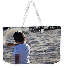 Weekender Tote Bag featuring the photograph Sand Rainbow by John Glass