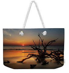 Sand Surf And Driftwood Weekender Tote Bag