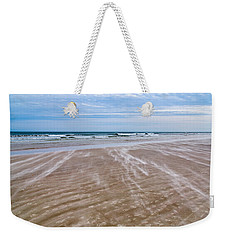 Weekender Tote Bag featuring the photograph Sand Swirls On The Beach by John M Bailey