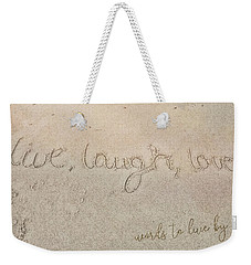Sand Texting Quote Weekender Tote Bag