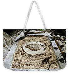 Weekender Tote Bag featuring the photograph Sand Turtle Print by Francesca Mackenney