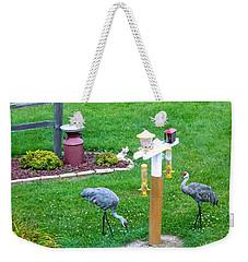 Sandhill Alert Weekender Tote Bag