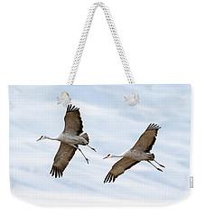 Sandhill Crane Approach Weekender Tote Bag
