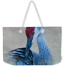 Sandhill Crane Weekender Tote Bag by Betty LaRue
