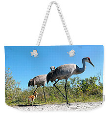 Sandhill Crane By Camera Phone 000 Weekender Tote Bag