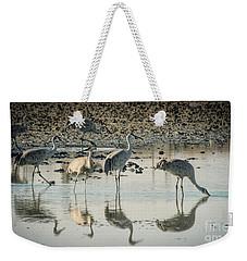 Sandhill Crane Reflections Weekender Tote Bag