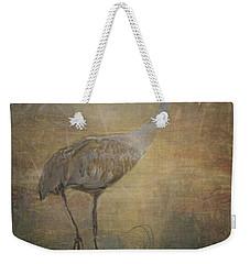 Sandhill Crane Watercolor Weekender Tote Bag by Janice Rae Pariza