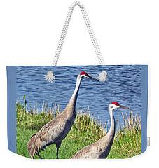 Sandhill Pair Weekender Tote Bag