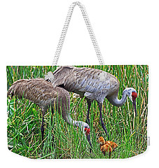Sandhill Cranes  Newborns Weekender Tote Bag