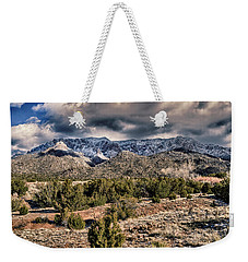 Weekender Tote Bag featuring the photograph Sandia Mountain Landscape by Alan Toepfer
