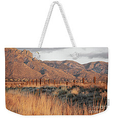 Sandia Mountains Rustic Fence Countryside Weekender Tote Bag by Andrea Hazel Ihlefeld