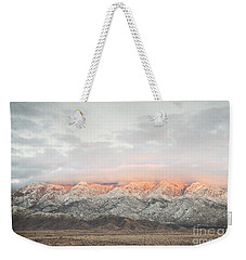 Sandia Mountains Rustic Sunset Landscape Weekender Tote Bag by Andrea Hazel Ihlefeld