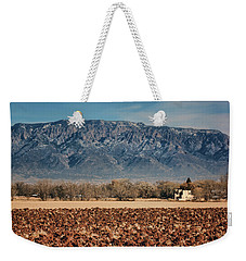 Weekender Tote Bag featuring the photograph Sandias - Los Poblanos Fields by Nikolyn McDonald