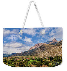 Weekender Tote Bag featuring the photograph Sandias Magic by Gina Savage