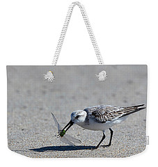 Sandpiper With Dragonfly Weekender Tote Bag