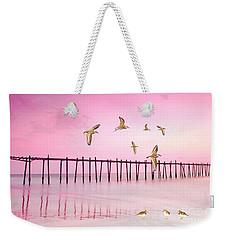 Sandpiper Sunset Weekender Tote Bag