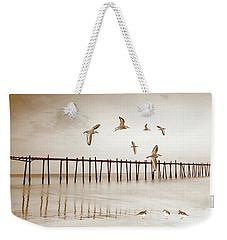 Sandpipers In Sepia Weekender Tote Bag