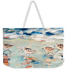 Sandpipers Running Weekender Tote Bag