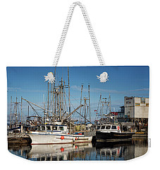 Weekender Tote Bag featuring the photograph Sandra M And Lasqueti Dawn by Randy Hall