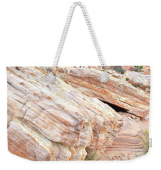 Weekender Tote Bag featuring the photograph Sandstone Along Park Road In Valley Of Fire by Ray Mathis