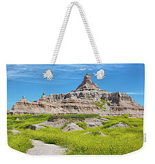 Weekender Tote Bag featuring the photograph Sandstone Battlestar by John M Bailey