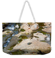Weekender Tote Bag featuring the photograph Sandstone Creek Bed by Sharon Talson