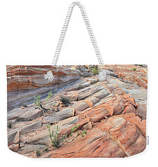 Sandstone Crest In Valley Of Fire Weekender Tote Bag by Ray Mathis