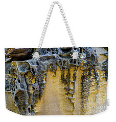 Weekender Tote Bag featuring the photograph Sandstone Detail Syd01 by Werner Padarin