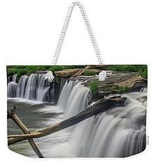 Weekender Tote Bag featuring the photograph Sandstone Falls by Ronald Santini