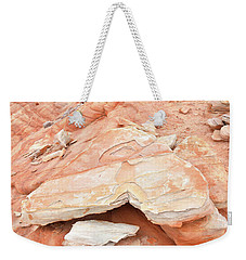 Weekender Tote Bag featuring the photograph Sandstone Heart In Valley Of Fire by Ray Mathis