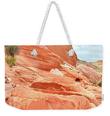 Weekender Tote Bag featuring the photograph Sandstone Pillar In Valley Of Fire by Ray Mathis