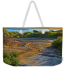 Weekender Tote Bag featuring the photograph Sandstone Platform by Miroslava Jurcik