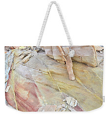 Sandstone Rainbow In Valley Of Fire Weekender Tote Bag by Ray Mathis