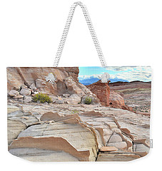 Sandstone Staircase In Valley Of Fire Weekender Tote Bag by Ray Mathis