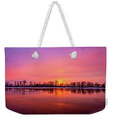 Sandy Chute Sunset Weekender Tote Bag