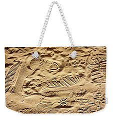 Sandy Footprints Weekender Tote Bag
