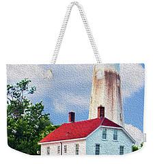 Sandy Hook Light House Weekender Tote Bag