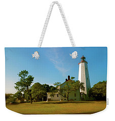 Weekender Tote Bag featuring the photograph Sandy Hook Lighthouse by Iconic Images Art Gallery David Pucciarelli