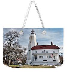 Sandy Hook Lighthouse - Winter Weekender Tote Bag