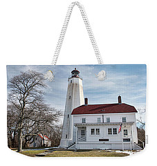 Sandy Hook Lighthouse - Winter Weekender Tote Bag