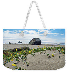 Sandy Point Of View Weekender Tote Bag
