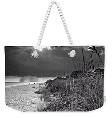 Sanibel Dune At Sunset In Black And White Weekender Tote Bag