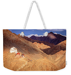 Weekender Tote Bag featuring the photograph Sankar Monastery by Alexey Stiop