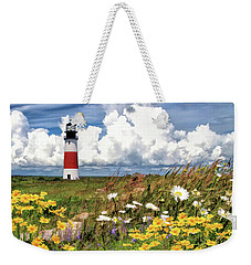 Weekender Tote Bag featuring the painting Sankaty Head Lighthouse by Christopher Arndt