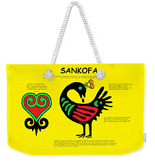 Sankofa Knowledge Weekender Tote Bag