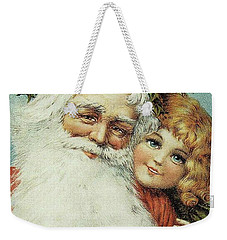 Santa And His Little Admirer Weekender Tote Bag