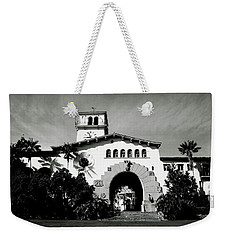 Santa Barbara Courthouse Black And White-by Linda Woods Weekender Tote Bag by Linda Woods