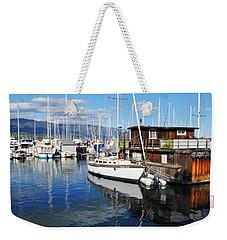 Weekender Tote Bag featuring the photograph Santa Barbara Harbor by Kyle Hanson