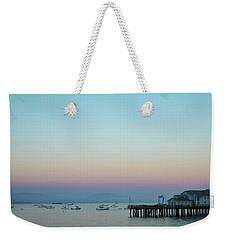 Santa Barbara Pier At Dusk Weekender Tote Bag